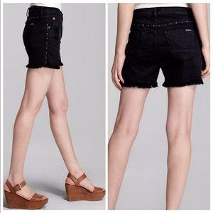 Hudson Libertine High Waist Studded Jean Shorts
